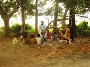 School under the trees